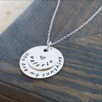 Personalized You Are My Sunshine Necklace