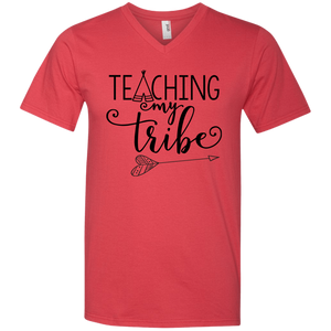 Teaching My Tribe Printed V-Neck T-Shirt