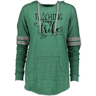 Teaching My Tribe Ladies Hooded Low Key Pullover