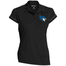 High Point Ladies' Contrast Stitch Performance Polo