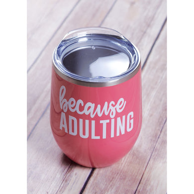 BC Adulting Wine Tumbler {Multiple Colors}