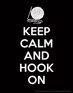 Keep Calm and Hook On Downloadable Print (11 x 14 in)