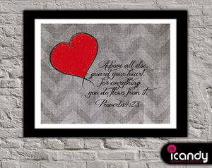 Guard Your Heart (Proverbs 4:23) Downloadable Print (8.5 x 11 in)
