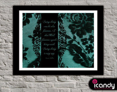 Black Lace Downloadable Print (8.5 x 11 in)