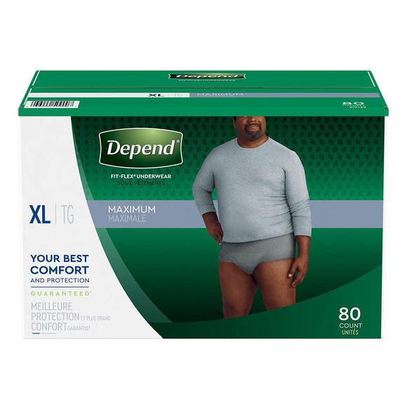Depend Fit-Flex Underwear for Men -  Extra Large (80 ct.)