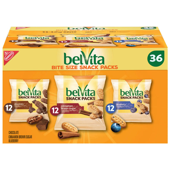 BelVita Bites Variety Pack Mini Breakfast Biscuits (1 oz., 36 pk.)
