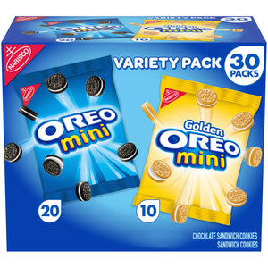 OREO Mini Chocolate Sandwich Cookies Snack Packs (1.5oz / 30pk)