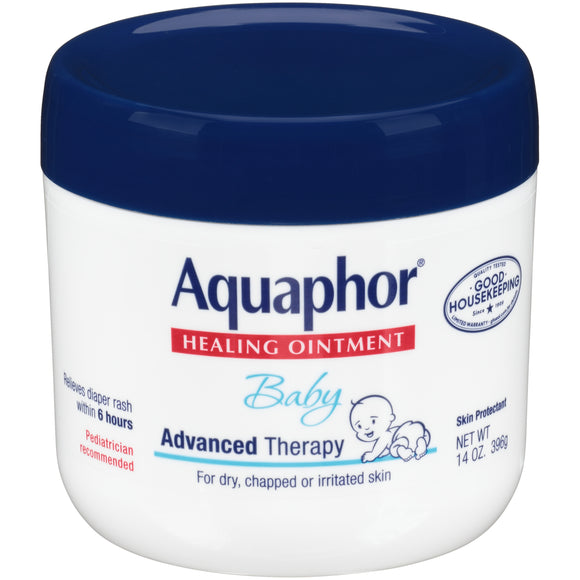 Aquaphor Baby Healing Ointment, Advanced Therapy Skin Protectant, 14 Oz. Jar