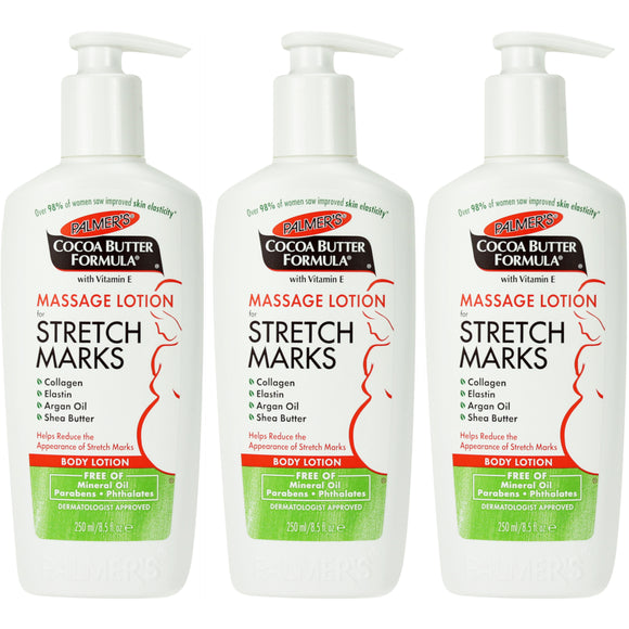 Palmer's Cocoa Butter Formula Massage Lotion for Stretch Marks and Pregnancy Skincare, 8.5 fl. oz. - 3 pack