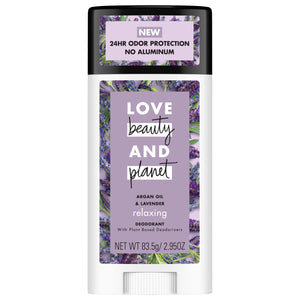 Love Beauty And Planet Aluminum-free Argan Oil and Lavender Deodorant, 2.95 oz