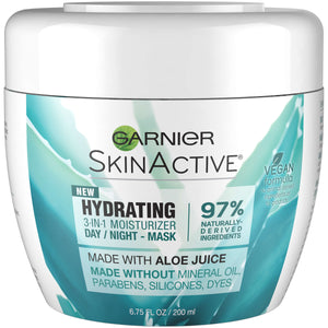 Garnier SkinActive 3-in-1 Face Moisturizer with Aloe, For Dry Skin, 6.75 fl. oz.