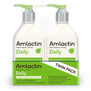 AmLactin Daily Moisturizing Body Lotion 7.9 Ounce (Pack of 2) Bottles, Paraben Free