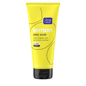 Clean & Clear Lemon Zesty Oil-Free Face Scrub with Vitamin C, 6.7 oz