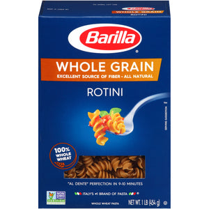 Barilla Pasta Whole Grain Rotini, 16.0 oz(4 PACK)