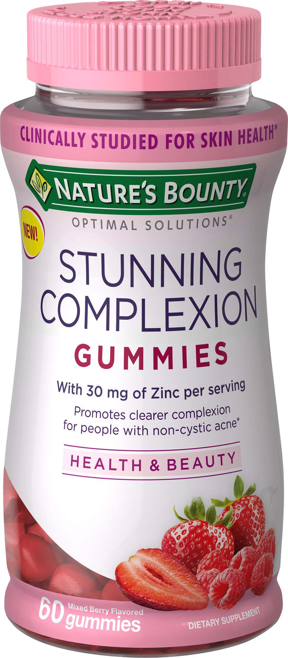 Nature's Bounty® Optimal Solutions Stunning Complexion, with Zinc, 60 Gummies