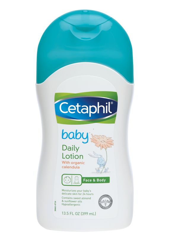 Cetaphil Baby Daily Lotion with Organic Calendula, Sweet Almond Oil & Sunflower Oil 13.5 oz - 2pack