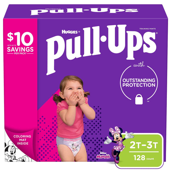 Huggies Pull-Ups Training Pants for Girls , 2T/3T - 128 ct. (18-34 lbs.)