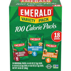 Emerald Nuts 100 Calorie Variety Pack, 18 Ct