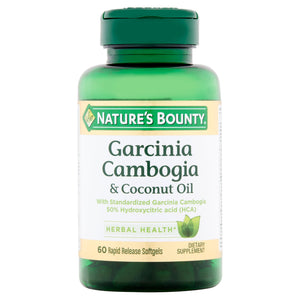 Nature's Bounty Garcinia Cambogia & Coconut Oil Rapid Release Softgels, 60 count