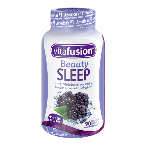 Vitafusion Beauty Sleep Melatonin Gummies, Natural Berry, 5 Mg, 90 Ct