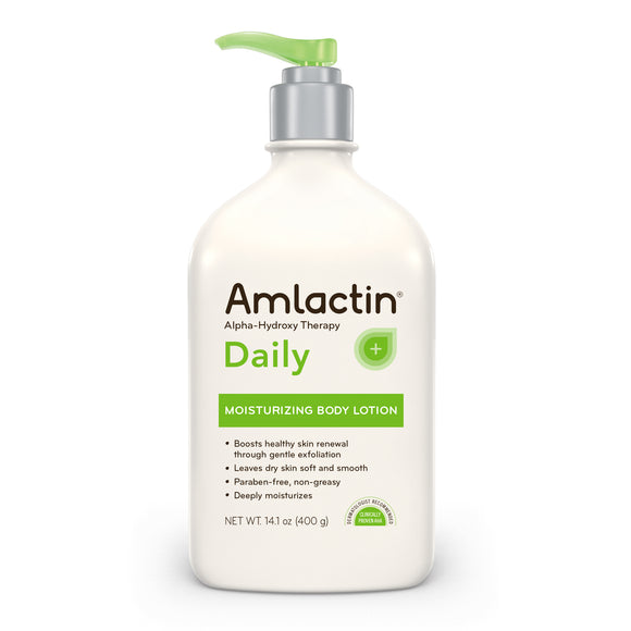 AmLactin Daily Moisturizing Body Lotion, 14.1 Ounce Pump Bottle