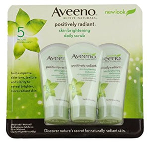 AVEENO Active Naturals Skin Brightening Daily Scrub 5 oz (Pack of 3)