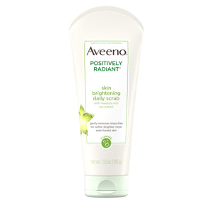 Aveeno Positively Radiant Skin Brightening Exfoliating Face Scrub 7 oz