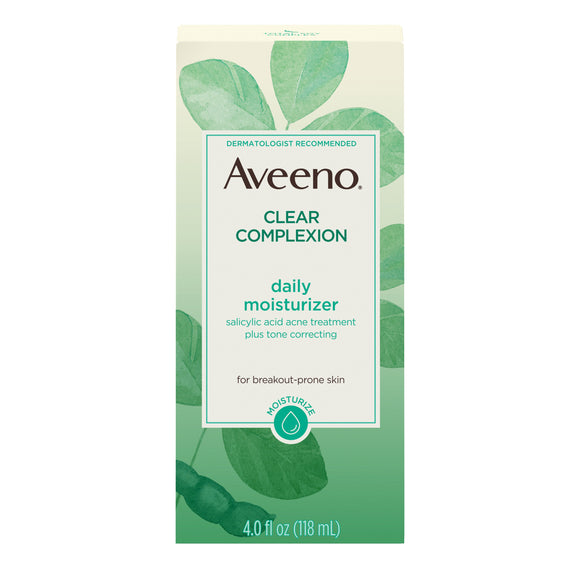 Aveeno Clear Complexion Acne-Fighting Face Moisturizer with Soy, 4 oz