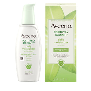 AVEENO® POSITIVELY RADIANT® DAILY MOISTURIZER WITH BROAD SPECTRUM SPF 30