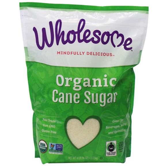 Wholesome Organic Cane Sugar (6 lbs./2.72kg)