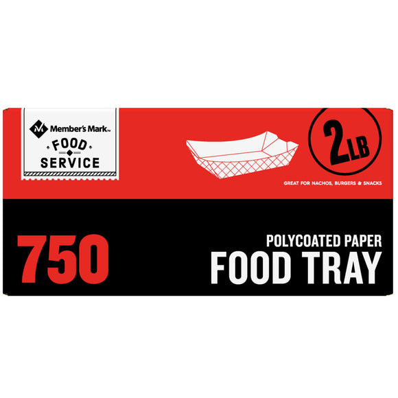 Member's Mark 2lb. Heavy Duty Capacity Food Tray (750 ct.)