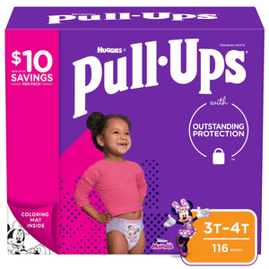 Huggies Pull-Ups Training Pants for Girls , 3T/4T -116 ct. (32 -40 lbs.)