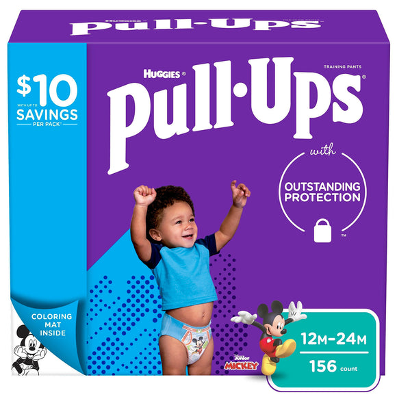 Huggies Pull-Ups Training Pants for Boys , 12M/24M -156 ct. (14-26 lbs.)