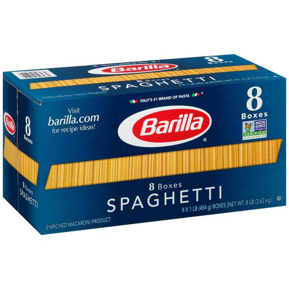 Product of Barilla Spaghetti Pasta, 8 pk./16 oz.