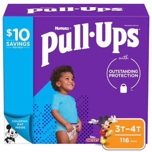 Huggies Pull-Ups Training Pants for Boys , 3T/4T -116 ct. (32 - 40 lbs.)