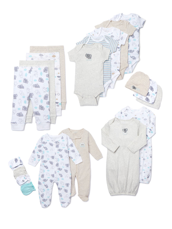 Garanimals Newborn Baby Gender Neutral Shower Gift Set, 20-Piece Set