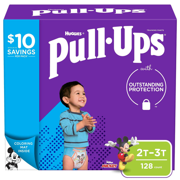 Huggies Pull-Ups Training Pants for Boys , 2T/3T - 128 ct. (18-34 lbs.)