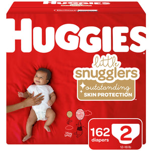 Huggies Little Snugglers Diapers, Size 2 - 162 ct. (12 - 18 lbs.)