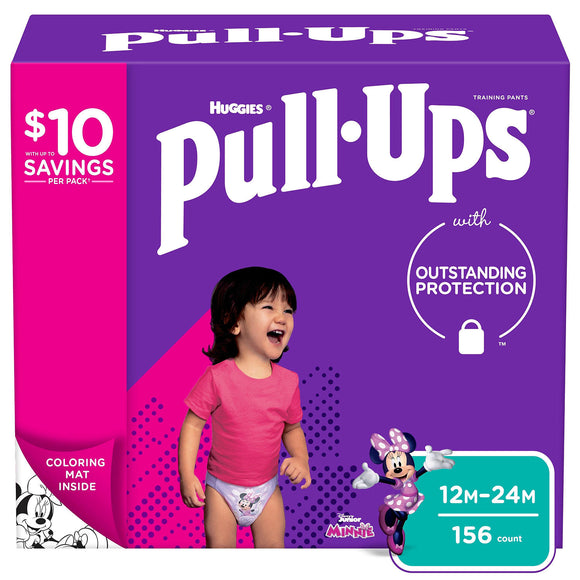 Huggies Pull-Ups Training Pants for Girls , 12M/24M -156 ct. (14-26 lbs.)