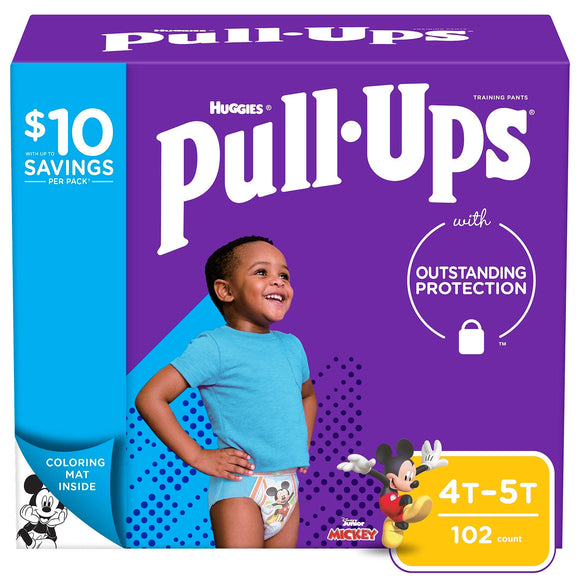 Huggies Pull-Ups Training Pants for Boys , 4T/5T -102 ct. (38-50 lbs.)