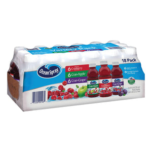 Ocean Spray Juice Drink Variety Pack (10oz / 18pk)