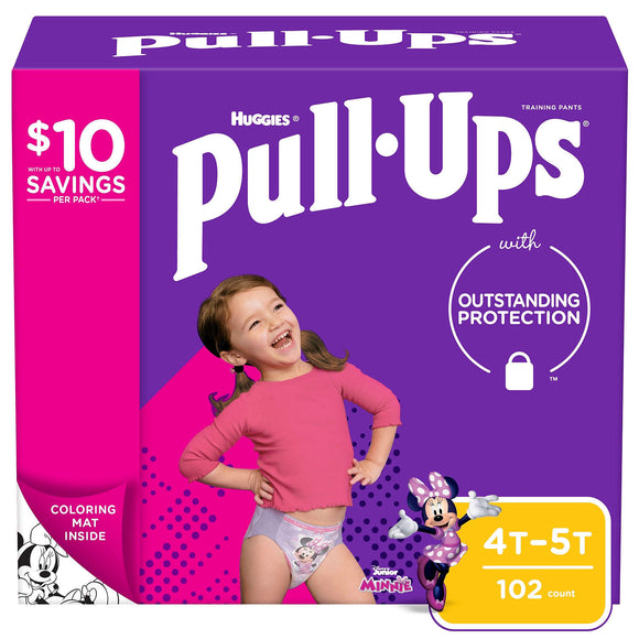 Huggies Pull-Ups Training Pants for Girls , 4T/5T -102 ct. (38 - 50 lbs.)