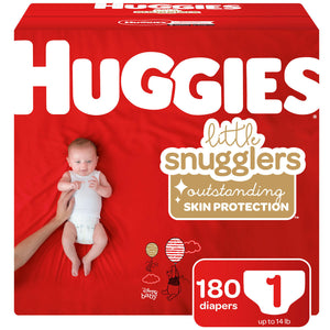Huggies Little Snugglers Diapers, Size 1 -180 ct. (Up to 14 lbs.)