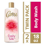 Caress Body Wash Daily Silk 18 oz, Twin Pack