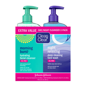 Clean & Clear Hydrating/Night Cleanser 2-Pack
