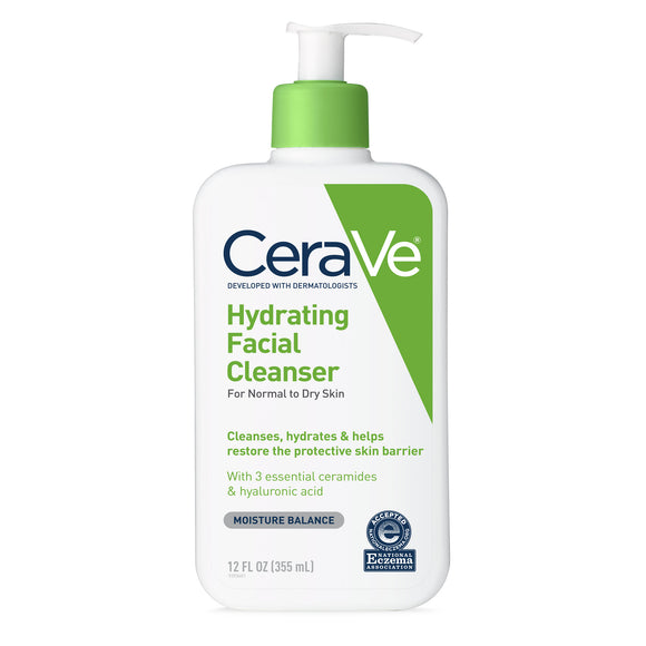 CeraVe Hydrating Facial Cleanser for Normal to Dry Skin - 12oz(355ml)
