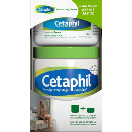 Cetaphil Moisturizing Cream 20oz + 8.8oz Bonus Fragrance Free Non-Greasy