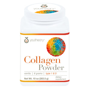 Youtheory Collagen + Biotin and Vitamin C Powder, 10 Oz