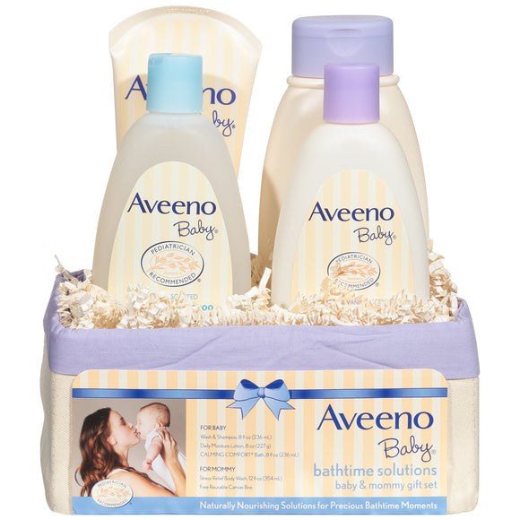 Aveeno Baby Daily Bathtime Solutions Gift Set, 4 items