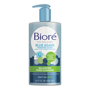 Biore Blue Agave & Baking Soda Pore Cleanser for Combination Skin (6.77 oz)
